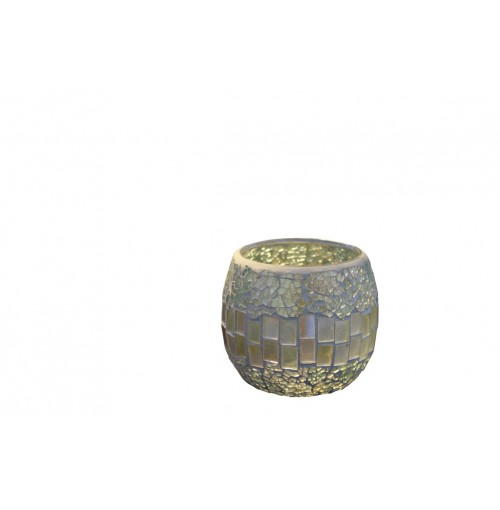 Natural Mosaic Candle Holder