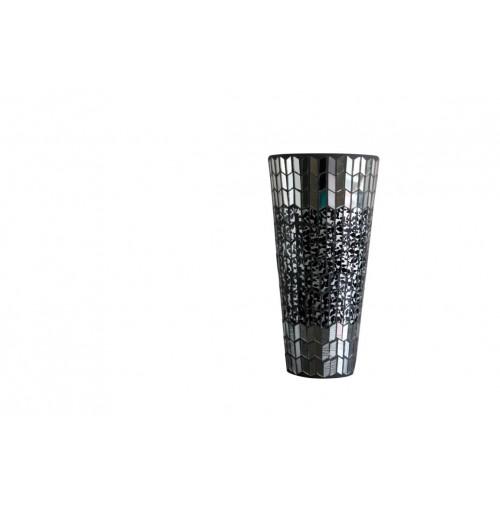Dark Mosaic Vase Shape Lrg Hurricane D/15cm H/30cm
