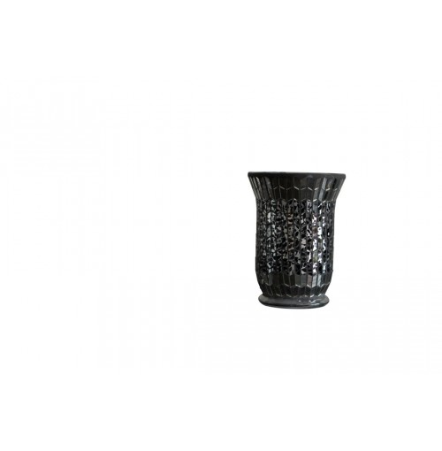 Dark Mosaic Candle Holder Lrg Hurricane D/14cm H/20cm