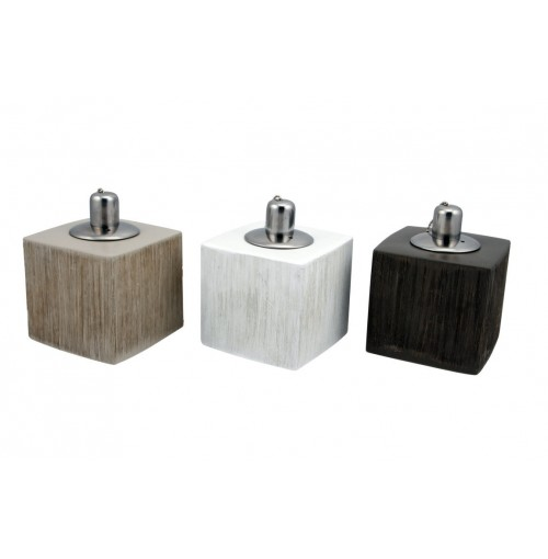 Ceramic Cube Table Oil Lamp Outdoor Living