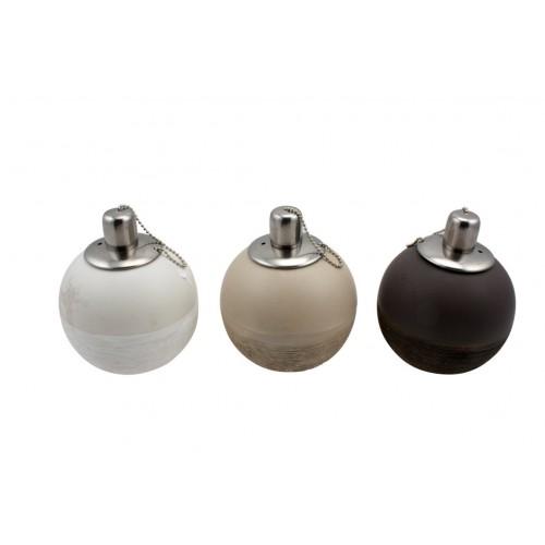 Ceramic Round Oil Lamp Outdoor Living