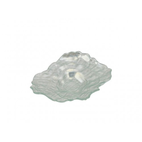 Rylee Oyster Shpd Laser Plate Sml 21.5x16x4cm