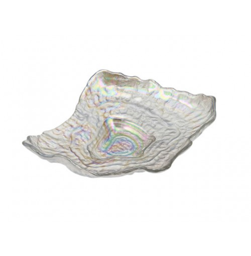 Rylee Oyster Shaped Laser Plate Lrg 26.5x20x6cm