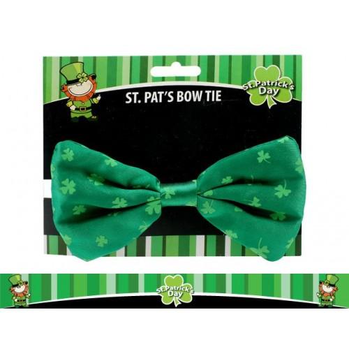 St Pats Printed Bow Tie 15cm X 9cm