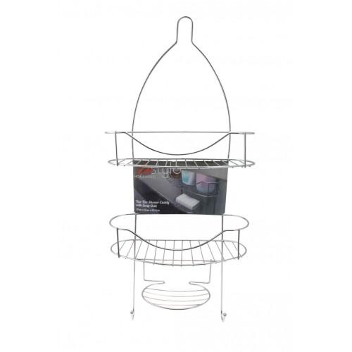 Shower Caddy Two Tier W/Soap Dish 27x12x63.5cm