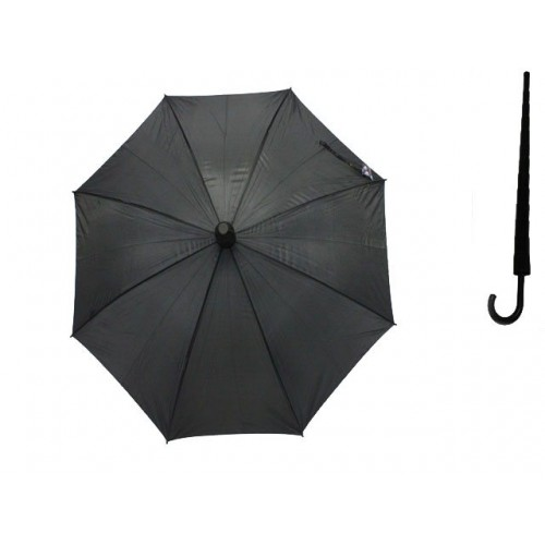 Umbrella Unisex Black 57.5cm