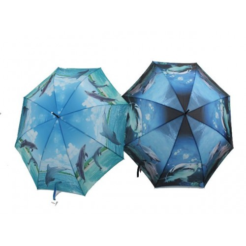 Umbrella  Dolphin &Amp; Shark Print