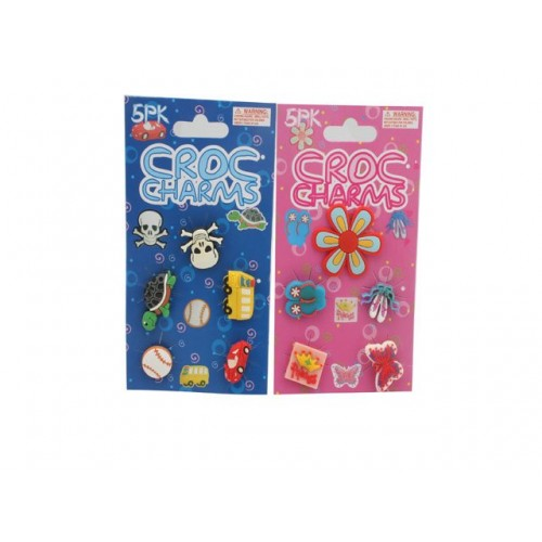 Charms For Shoes/Bracelets Crocs Silicone 5pk