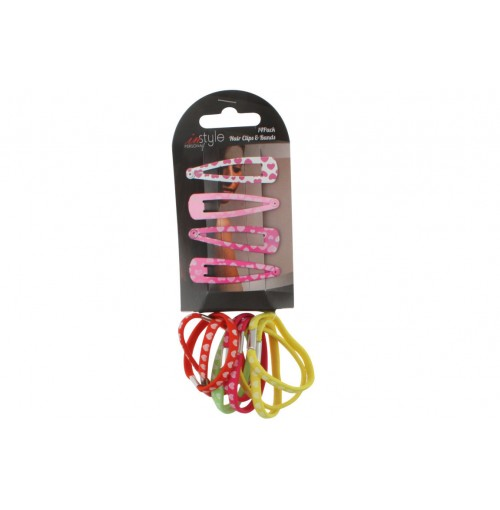 Hair Clips & Bands 14 Pce