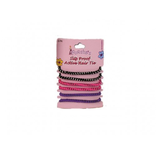 Hair Tie Slip Proof Active 6pk