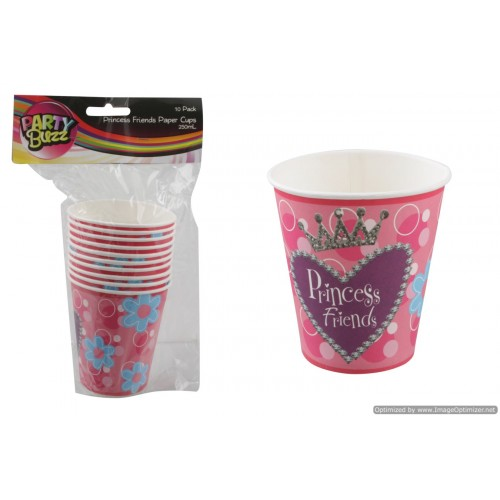 Princess Friends Paper Cups 10pk 250ml