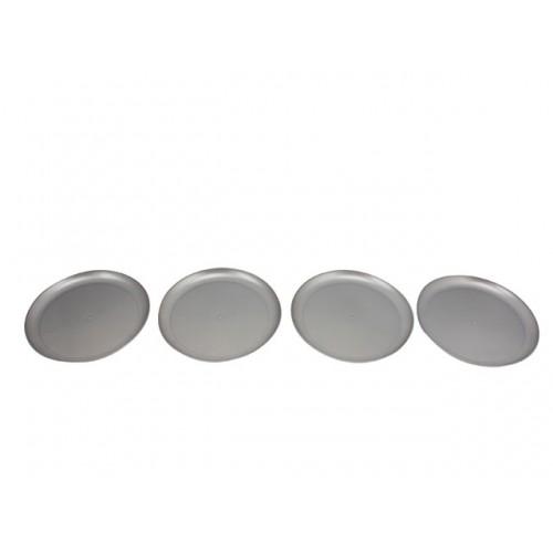 Plate Plastic 4pk 17.8cm Silver