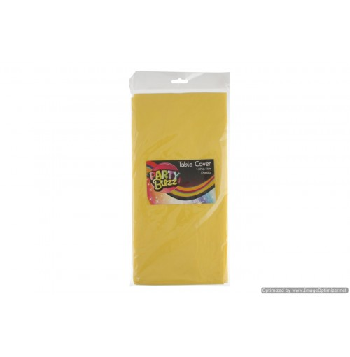 Table Cover Plastic 1.37x2.74m Yellow