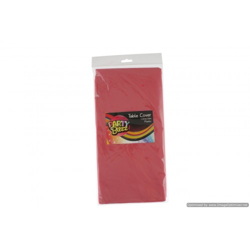 Table Cover Plastic 1.37x2.74m Red
