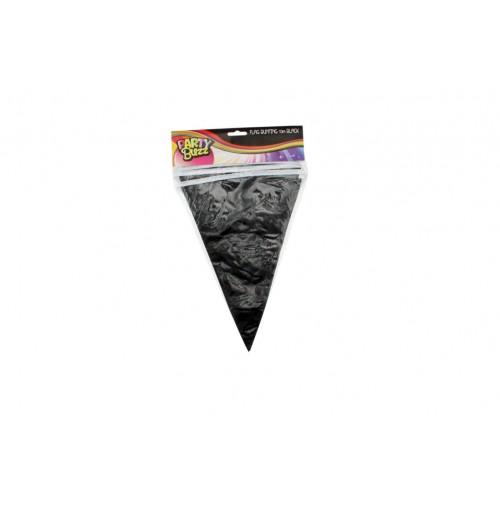 Flag Bunting 10m Black