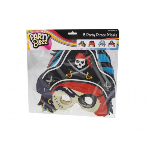 Party Pirate Mask 8pk