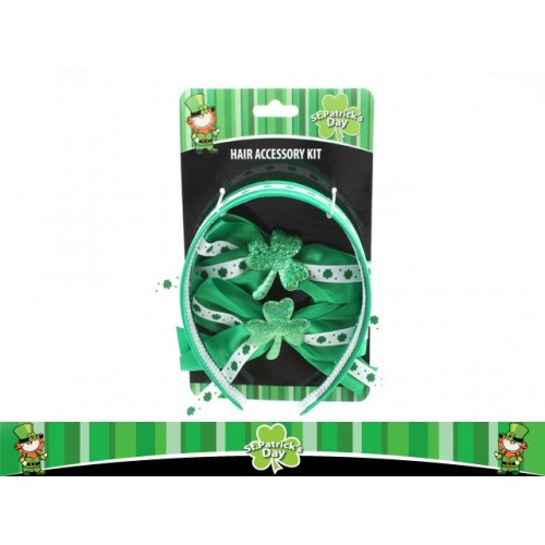 St Patrick Hair Accesory Kit With Headbands And Ties