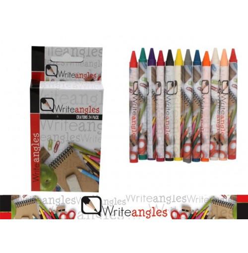 Crayons 24pk In Clr Box