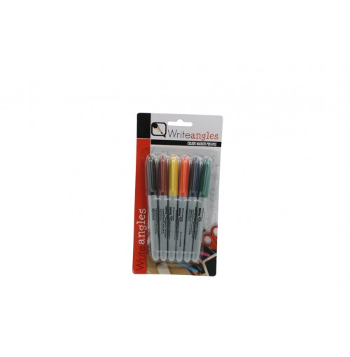 Marker Pen Assorted Col 6pce
