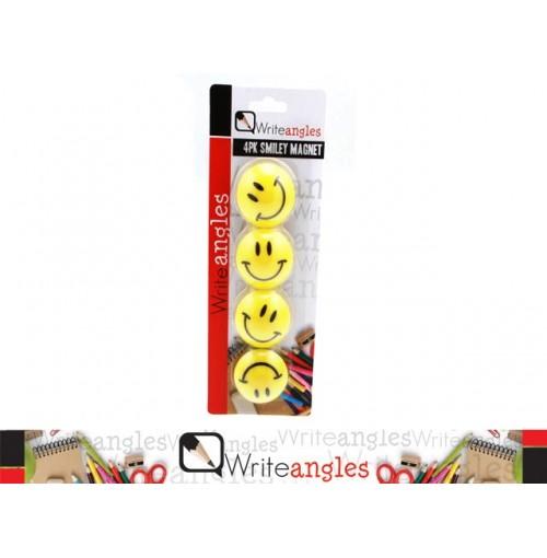 Magnet Fridge 4pk Smiley
