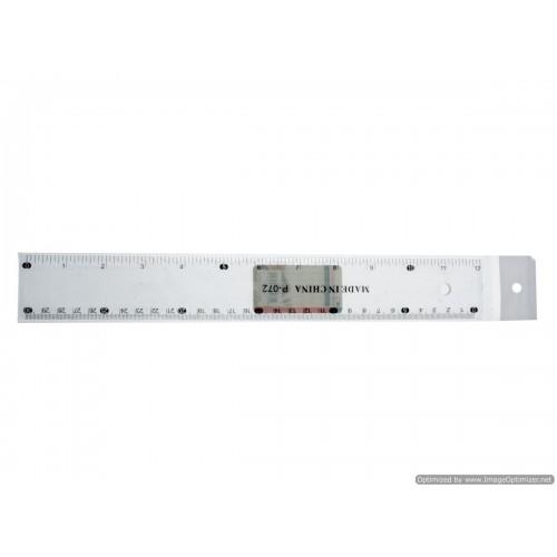 30cm Ruler Clear Plastic