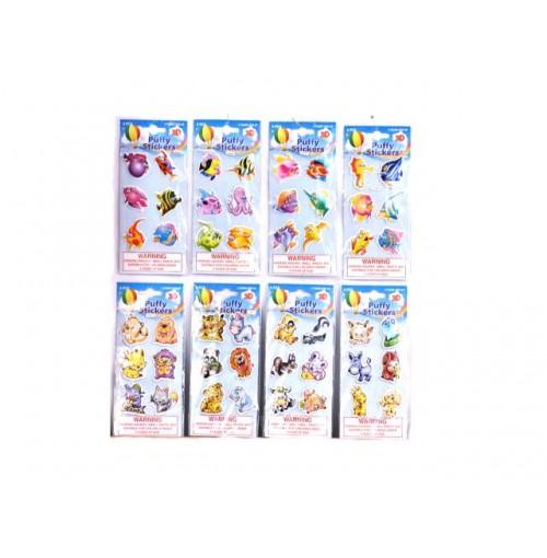 Stickers Puffy Crazy Eyes Animal & Fish Designs