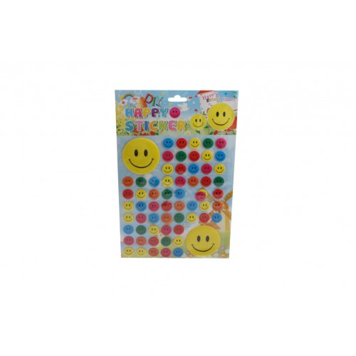 3d Smiley Face Stickers 64pce