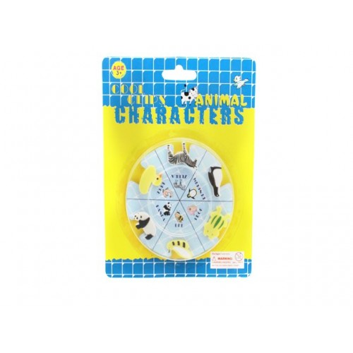 Clips Cool Animal Characters 6pk 2cm
