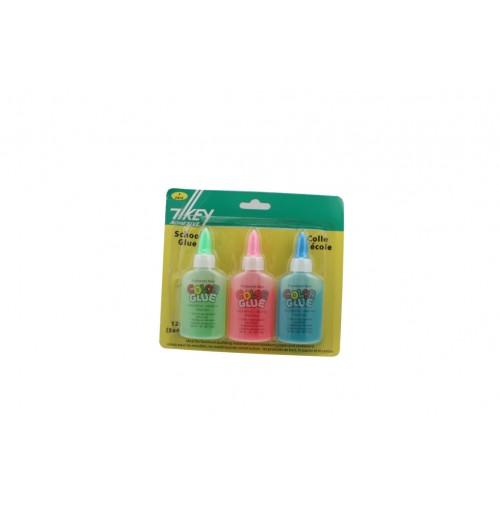 40ml Neon Gluetubes 3pk Dries Clear