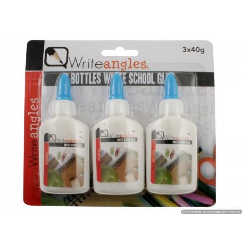 3pk White School Glue 40g