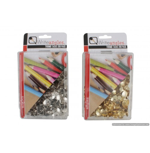 Thumb Tacks 200pcs  Clrs Silver & Gold