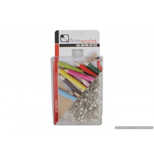 Pins With Ball End 200pcs 2 Asst Clrs Pearl White Black