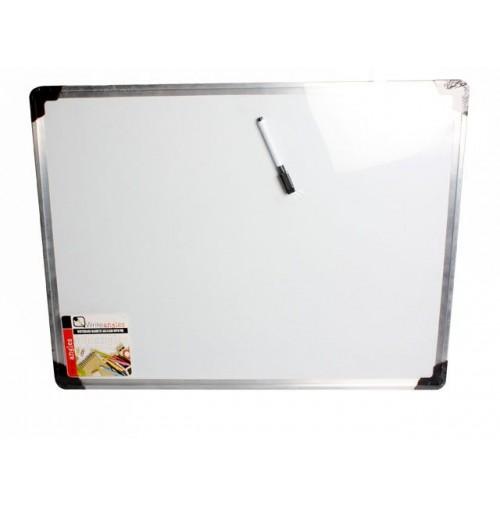 Whiteboard Magnetic 60x45cm H/D Frame W/Pen