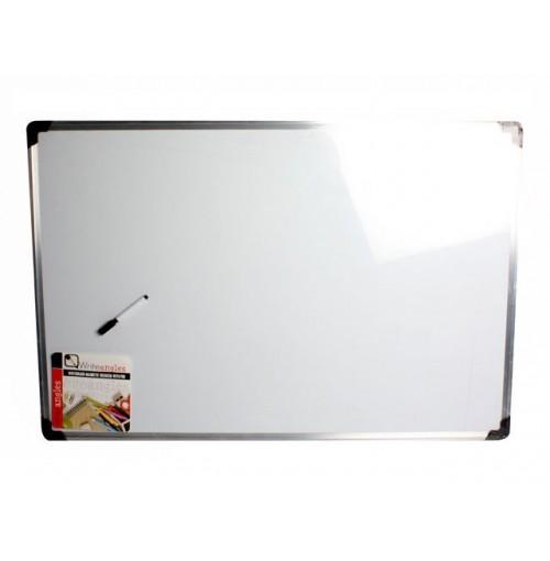 Whiteboard Magnetic 90x60cm H/D Frame W/Pen