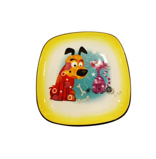 Backyard Buddies Small Plate Square Plate Coupe 14cm With