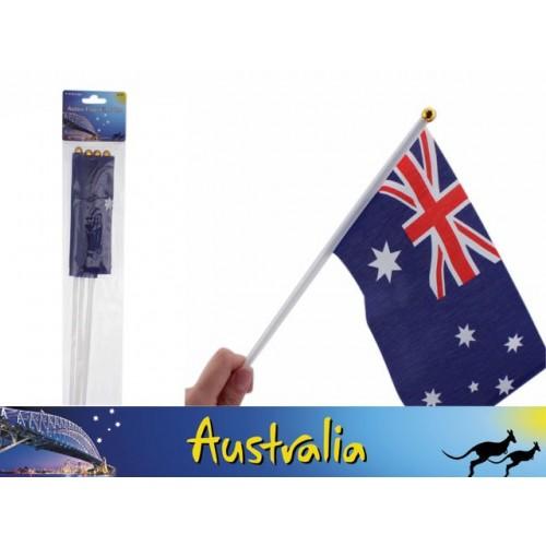 Aussie Flags W/Pole 4pk 40cm