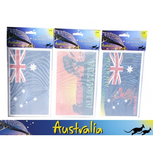 Car Window Sign Aust 2pk 18x12cm