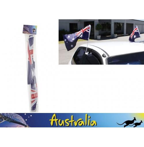 Car Flags Aussie W/Clips 2pk