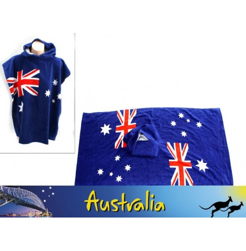 Australian Flag Beach Poncho Towel