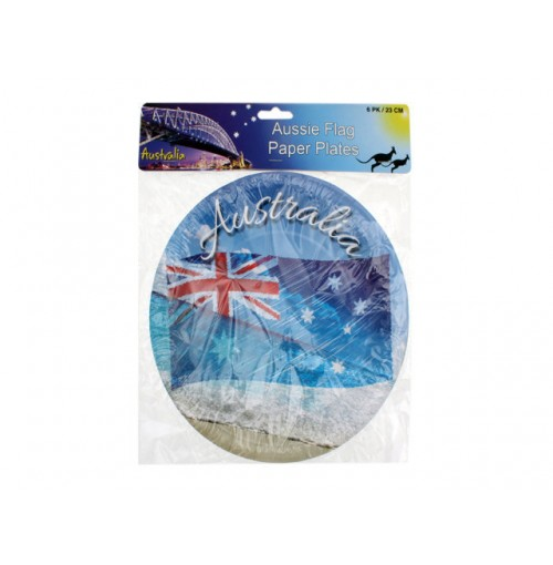 Aus Waving Flag Plate 6pk