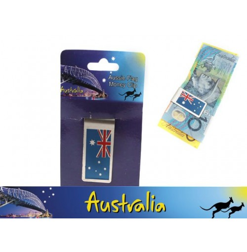 Money Clip Aussie Flag 5x2.5cm