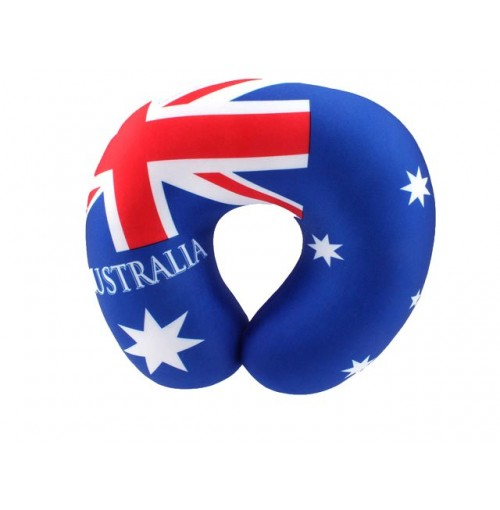 Aussie Travel Neck Pillow 30x30cm Polystyrene Balls