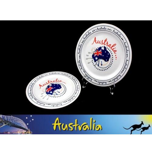 Aust Map Melamine Plate 25cm