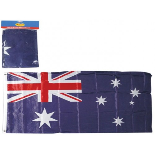 Australian Flag 150x70cm W. Metal Ring