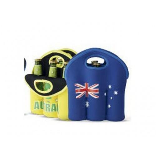 Aussie Beer Bottle Holder 6pk Blue