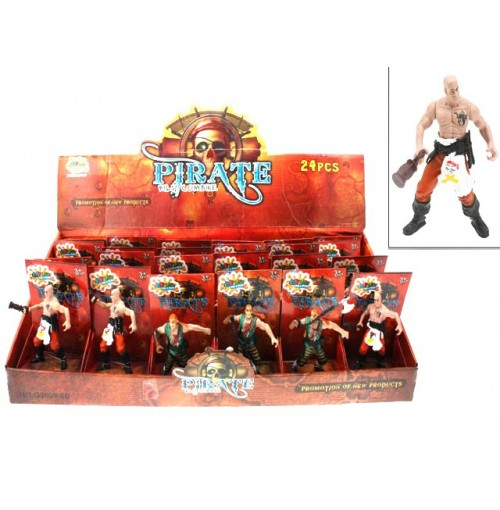 Pirate Figurines 24pc In Display