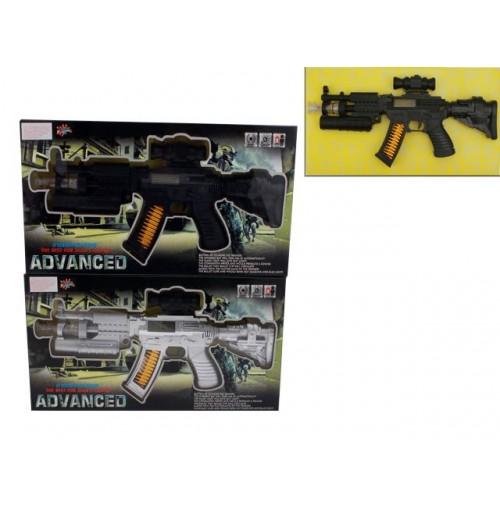 Machine Gun Silver W/Light &Amp; Sound