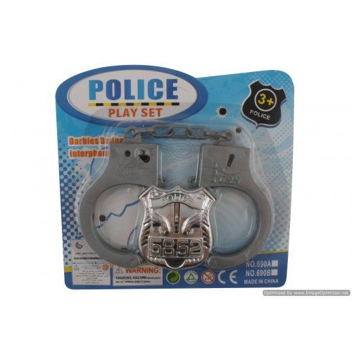 Police Handcuffs & Badge Set