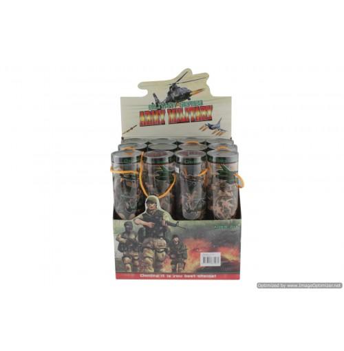 Military Set In Display In Pvc Tubes
