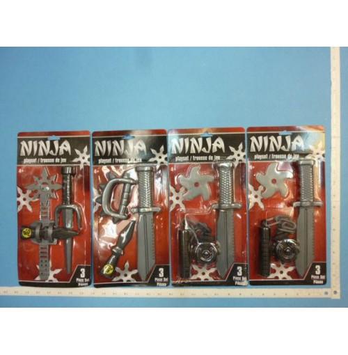 Plastic Ninja Weapon Play Set 3 Asst